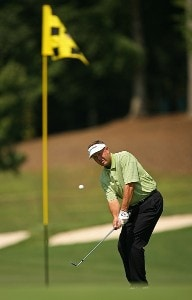 Rod Spittle chips on the 12th hole during the second round of the Champions Tour - 2007 Greater Hickory Classic at Rock Barn Golf and Spa on September 15, 2007 in Conover, North Carolina . Champions Tour - 2007 Greater Hickory Classic at Rock Barn - Second RoundPhoto by Mike Ehrmann/WireImage.com