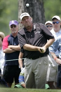 Mark Calcavecchia during the third round of the Zurich Classic of New Orleans held at TPC Louisiana in New Orleans, Louisiana, on April 21, 2007. Photo by: Stan Badz/PGA TOURPhoto by: Stan Badz/PGA TOUR