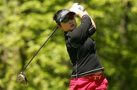 CORNING, NY - MAY 25:   Jeong Jang of South Korea hits her tee shot on the 12th hole during the final round of the LPGA Corning Classic at Corning Country Club on May 25, 2008 in Corning, New York.  (Photo by Kyle Auclair/Getty Images)