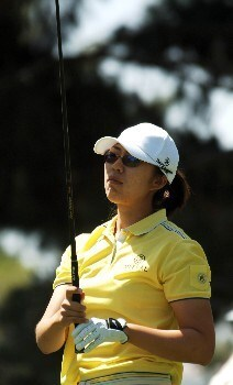 Shi Hyun Ahn hits from the first tee during the first round of the 2005 LPGA  Takefuji Classic at the Las Vegas Country Club in Las Vegas, Nevada, April 14, 2005Photo by Steve Grayson/WireImage.com