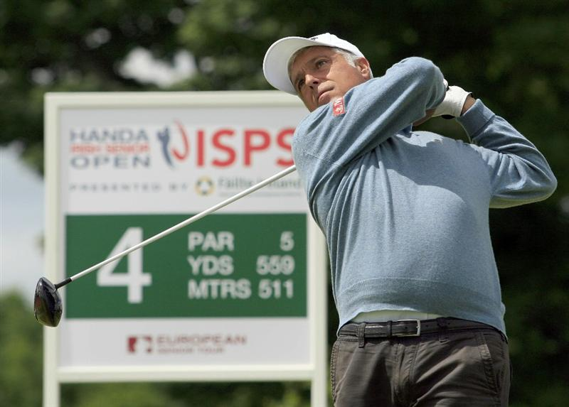 MAYNOOTH, IRELAND - JUNE 12:  Marc Farry of France in action during the second round of the Handa Irish Senior Open presented by Borde Failte, played at the Montgomerie Course, Carton House GC on June 12, 2010 in Maynooth, Ireland.  (Photo by Phil Inglis/Getty Images)