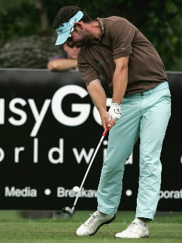 JOHANNESBURG, SOUTH AFRICA - JANUARY 12:  Paul Waring of England tees off from the 17th during the third round of the Joburg Open 2008 at Royal Johannesburg & Kensington Golf Club on January 12, 2008 in Johannesburg, South Africa.  (Photo by Richard Heathcote/Getty Images)