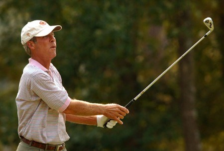 Ben Crenshaw hits from the ninth tee during during the first round of the Administaff Small Business Classic at Augusta Pines Golf Club, in Spring, Texas October 14, 2005.Photo by Steve Grayson/WireImage.com