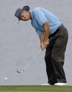 Hubert Green during the third and final round of the Regions Charity Classic held at Robert Trent Jones Golf Trail at Ross Bridge in Birmingham, AL, on May 7, 2006.Photo by Steve Levin/WireImage.com