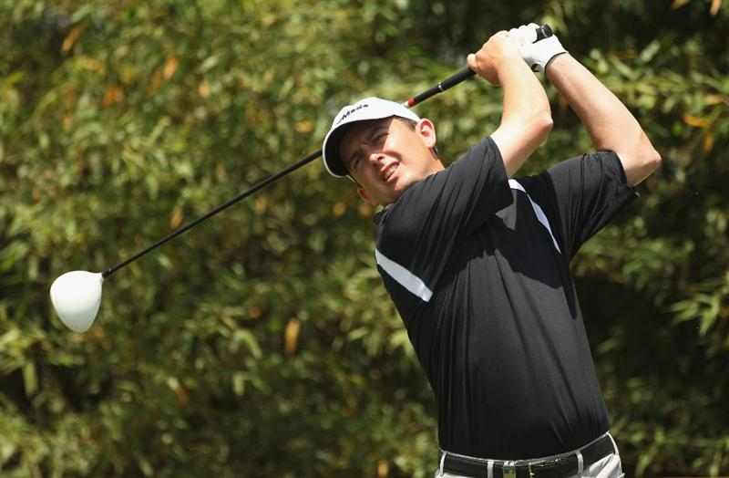CHENGDU, CHINA - APRIL 23:  Peter Lawrie of Ireland in action during day three of the Volvo China Open at Luxehills Country Club on April 23, 2011 in Chengdu, China.  (Photo by Ian Walton/Getty Images)