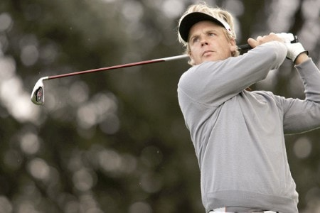 Klas Eriksson during the first round of the 2005 Open De Madrid at the Campo De Golf in Madrid, Spain on October 13, 2005.Photo by Pete Fontaine/WireImage.com