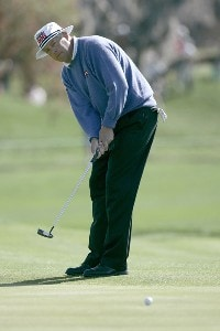Kirk Triplett in action during the first round of the Bay Hill Invitational presented by MasterCard at the Bay Hill Club in Orlando, Florida on March 16, 2006.