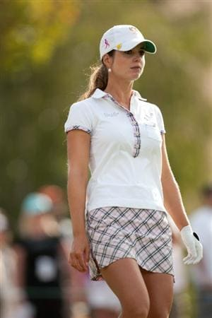 DANVILLE, CA - OCTOBER 16: Beatriz Recari of Spain walks from the second tee during the third round of the CVS/Pharmacy LPGA Challenge at Blackhawk Country Club on October 16, 2010 in Danville, California. (Photo by Darren Carroll/Getty Images)