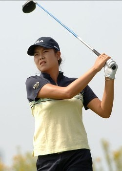 Hee-Won Han hits from the 13th tee during the second round of the 2005 Office Depot Championship at Trump National Golf Club Los Angeles in Rancho Palos Verdes, California October 1, 2005.Photo by Steve Grayson/WireImage.com