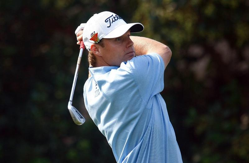 SHANGHAI, CHINA - NOVEMBER 05:  Nick Watney of the USA watches his tee shot on the 17th hole during the first round of the WGC-HSBC Champions at Sheshan International Golf Club on November 5, 2009 in Shanghai, China.  (Photo by Scott Halleran/Getty Images)