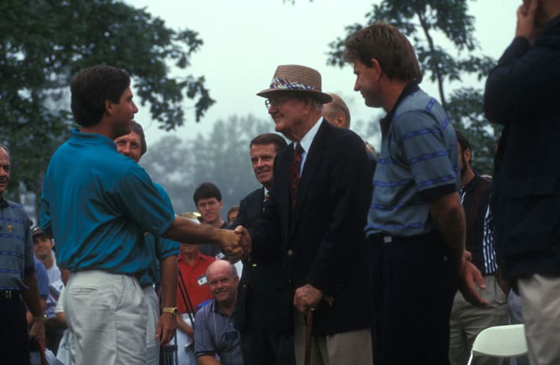 Byron Nelson, Fred Couples and Nick Price