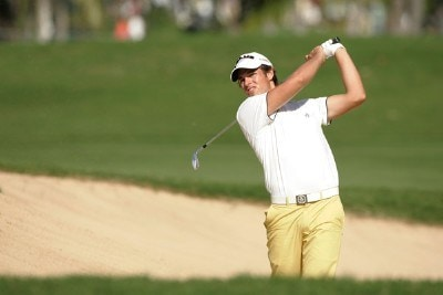 Aaron Baddeley hits from a bunker during the second round of the Sony Open in Hawaii held at Waialae Country Club on January 11, 2008 in Honolulu, Hawaii. PGA TOUR - 2008 Sony Open in Hawaii - Second RoundPhoto by Stan Badz/PGA TOUR/WireImage.com