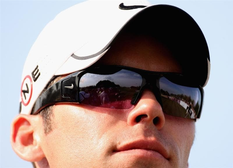 ABU DHABI, UNITED ARAB EMIRATES - JANUARY 17:  Paul Casey of England looks on during the third round of the Abu Dhabi Golf Championship at the Abu Dhabi Golf Club on January 17, 2009 in Abu Dhabi, United Arab Emirates.  (Photo by Ross Kinnaird/Getty Images)