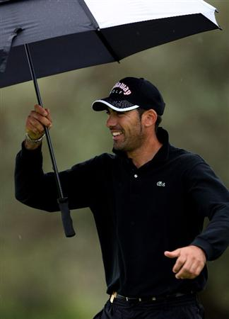 CASTELLO, SPAIN - OCTOBER 24:  Alvaro Quiros of Spain looks happy during the second round of the Castello Masters Costa Azahar at the Club de Campo del Mediterraneo on October 24, 2008 in Castello, Spain.  (Photo by Stuart Franklin/Getty Images)