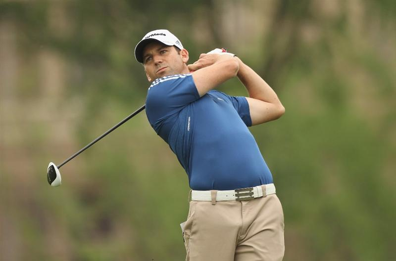 CHENGDU, CHINA - APRIL 22:  Sergio Garcia of Spain in action during day two of the Volvo China Open at Luxehills Country Club on April 22, 2011 in Chengdu, China.  (Photo by Ian Walton/Getty Images)
