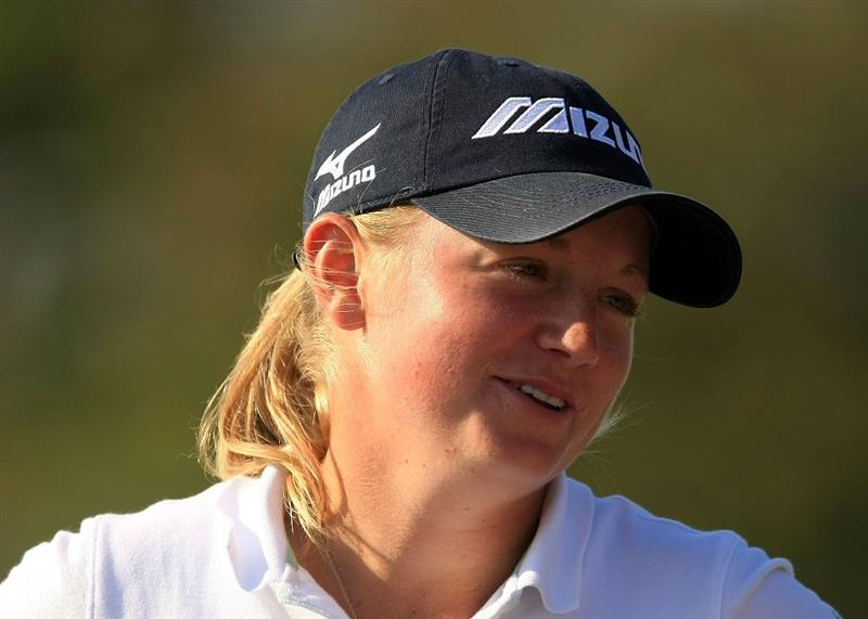 DAYTONA BEACH, FL - DECEMBER 06:  Stacy Lewis waits on the 17th tee during the fourth round of the LPGA Qualifying School at LPGA International on December 6, 2008 in Daytona Beach, Florida.  (Photo by Scott Halleran/Getty Images)