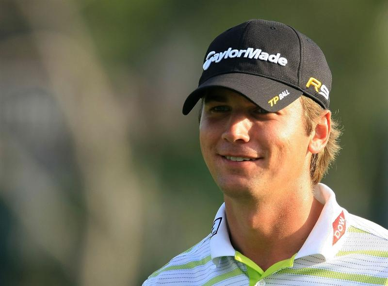 ORLANDO, FL - MARCH 28:  Sean O'Hair smiles as he walks off the 17th green during the third round of the Arnold Palmer Invitational at the Bay Hill Club & Lodge on March 28, 2009 in Orlando, Florida.  (Photo by Scott Halleran/Getty Images)