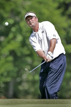 Jim McGovern chips in at the 8th green during the second round of the Rex Hospital Open, May 7,2005, held at TPC of Wakefield Plantation, Raleigh, N.C.Photo by Stan Badz/PGA TOUR/WireImage.com