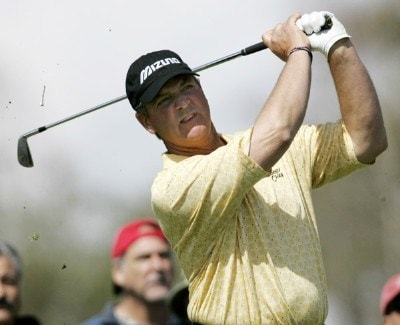 Tom Purtzer in action during the final round of the Toshiba Classic at Newport Beach Country Club in Newport Beach, California on March 19, 2006.Photo by Gregory Shamus/WireImage.com