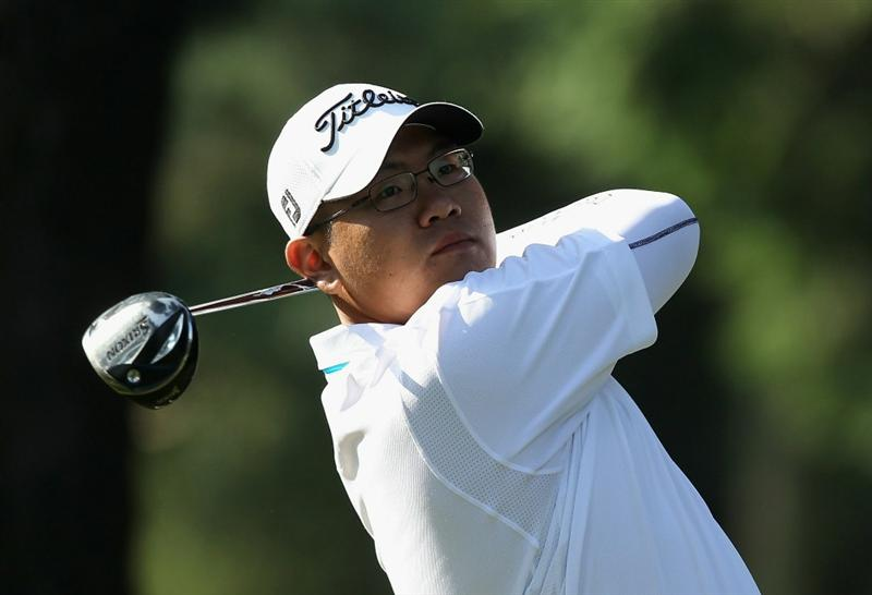 KAWAGOE CITY, JAPAN - OCTOBER 07:  Tze Huang Choo of Singapore watches his tee shot during the first round of the 2010 Asian Amateur Championship at Kasumigaseki Country Club on October 7, 2010 in Kawagoe City, Japan.  (Photo by Streeter Lecka/Getty Images)