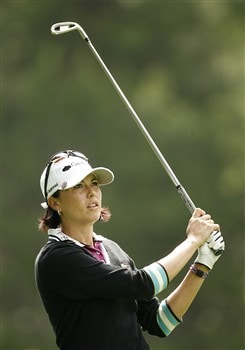 ROCHESTER, NY - JUNE 20: Stacy Prammanasudh hits her second shot on the 16th hole during the second round of the Wegmans LPGA at Locust Hill Country Club on June 20, 2008 in Rochester, New York. (Photo by Hunter Martin/Getty Images)
