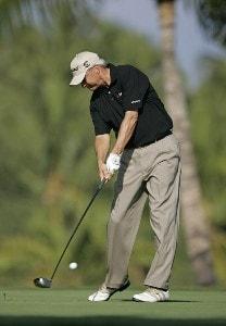 Don Pooley in action during the Wednesday Pro-Am at the 2006 Mastercard Championship  at Hualalai resort,  Kona, Hawaii.Photo by: Chris Condon/PGA TOUR