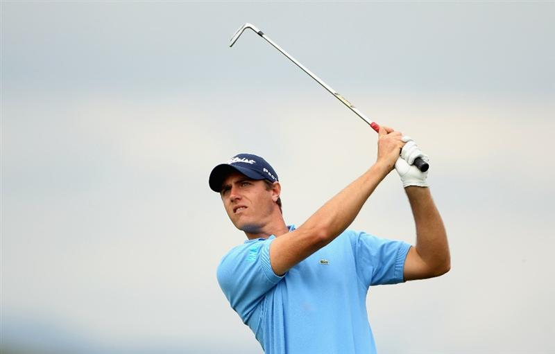 CASARES, SPAIN - MAY 20:  Nicolas Colsaerts of Belgium in action during the group stages of the Volvo World Match Play Championship at Finca Cortesin on May 20, 2011 in Casares, Spain.  (Photo by Andrew Redington/Getty Images)
