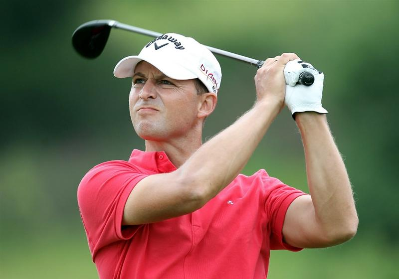 NEWPORT, WALES - JUNE 06:  Niclas Fasth of Sweden during the final round of the Celtic Manor Wales Open on the 2010 Course at the Celtic Manor Resort on June 6, 2010 in Newport, Wales.  (Photo by Ross Kinnaird/Getty Images)