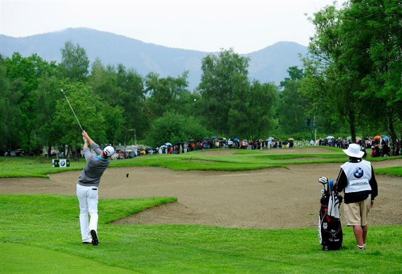 TURIN, ITALY - MAY 09:  Fredrik Andersson Hed of Sweden plays his approach shot on the 16th hole during the final round of the BMW Italian Open at Royal Park I Roveri on May 9, 2010 in Turin, Italy.  (Photo by Stuart Franklin/Getty Images)