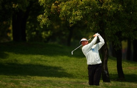SHANGHAI, CHINA - APRIL 24:  Paul Broadhurst of England in action during the first round of the BMW Asian Open at the Tomson Shanghai Pudong Golf Club on April 24, 2008 in Shanghai, China.  (Photo by Ian Walton/Getty Images)