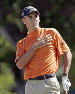 Charles Howell III follows his drive off the 1st tee during the final round of the Sony Open in Hawaii held at Waialae Country Club in Honolulu, Hawaii, on January 14, 2007.