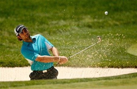 DUBLIN, OH - JUNE 01:  Mathew Goggin of Australia hits his third shot on the 1st hole during the final round of The Memorial on June 1, 2008 at the Muirfield Village Golf Club in Dublin, Ohio.  (Photo by Hunter Martin/Getty Images)