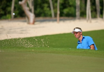 Richard S Johnson hits out of the bunker on the 3rd hole during the second round of the Mayakoba Golf Classic at El Camaleon at Mayakoba in Playa Del Carmen, Mexico on February 23, 2007. PGA TOUR - 2007 Mayakoba Golf Classic - Second RoundPhoto by Mike Ehrmann/WireImage.com