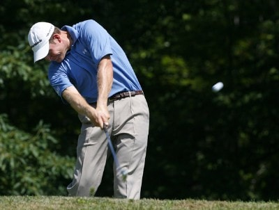 Justin Bolli drives from the 2nd tee box during the third round of the Northeast Pennsylvania Classic held at Glenmaura National Golf Club in Moosic, Pennsylvania, on August 11, 2007. Nationwide Tour - 2007 Northeast Pennsylvania Classic - Third RoundPhoto by Jim Rogash/WireImage.com