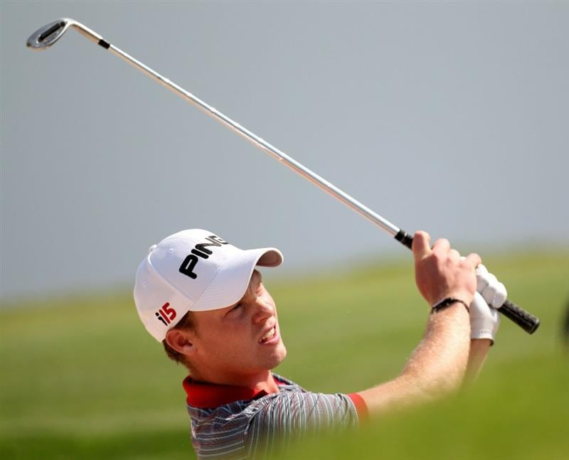 NEWPORT, WALES - JUNE 03:  Danny Willett of England during the first round of the Celtic Manor Wales Open on the 2010 Course at the Celtic Manor Resort on June 3, 2010 in Newport, Wales.  (Photo by Ross Kinnaird/Getty Images)
