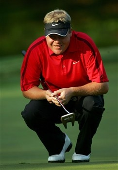 CHARLOTTE, NC - MAY 01:  Carl Pettersson of Sweden plays a shot on the 12th hole during the first round of the Wachovia Championship at Quail Hollow Country Club on May 1, 2008 in Charlotte, North Carolina.  (Photo by Sam Greenwood/Getty Images)