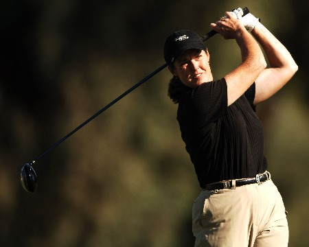 Donna Andrews in action during the second round of the LPGA's 2005 Kraft Nabisco Championship, at Mission Hills Country Club in Rancho Mirage, California March 25, 2005.