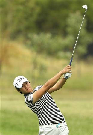 MELBOURNE, AUSTRALIA - FEBRUARY 05:  Yani Tseng of Taiwan plays a shot during day three of the Women's Australian Open at The Commonwealth Golf Club on February 5, 2011 in Melbourne, Australia.  (Photo by Lucas Dawson/Getty Images)