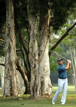 HONG KONG - NOVEMBER 19:  David Howell of England plays his 2nd shot on the 7th hole during day two of the UBS Hong Kong Open at The Hong Kong Golf Club on November 19, 2010 in Hong Kong, Hong Kong. ( Photo by Stanley Chou/Getty Images)