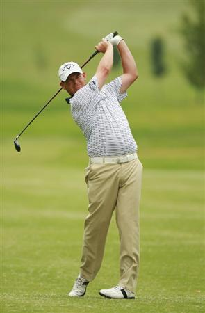 JOHANNESBURG, SOUTH AFRICA - JANUARY 15:  David Drysdale of Scotland plays his second shot into the eighth green during the third round of the Joburg Open at Royal Johannesburg and Kensington Golf Club on January 15, 2011 in Johannesburg, South Africa.  (Photo by Warren Little/Getty Images)