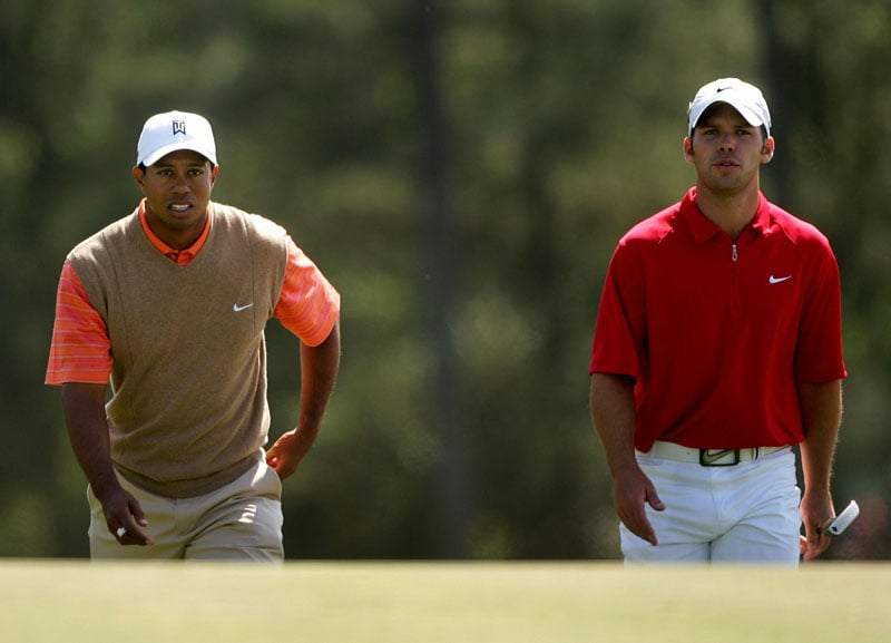 Tiger Woods and Paul Casey