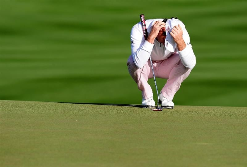 MARANA, AZ - FEBRUARY 20:  Oliver Wilson of England ponders his putt on the seventh hole during round four of the Accenture Match Play Championship at the Ritz-Carlton Golf Club on February 20, 2010 in Marana, Arizona.  (Photo by Stuart Franklin/Getty Images)