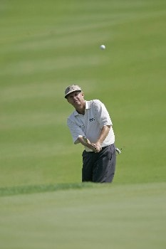 Wayne Levi hits a chip shot during the final round of the Bayer Advantage Classic held at LionsGate Golf Course in Overland Park, KS, June 12, 2005.Photo by G. Newman Lowrance/WireImage.com