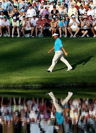 AUGUSTA, GA - APRIL 09:  K.J. Choi of South Korea walks to the 16th green during the third round of the 2011 Masters Tournament at Augusta National Golf Club on April 9, 2011 in Augusta, Georgia.  (Photo by Andrew Redington/Getty Images)