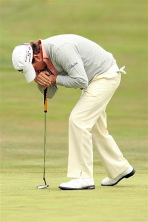 PEBBLE BEACH, CA - JUNE 20:  Graeme McDowell of Northern Ireland reacts to a putt on the 12th hole during the final round of the 110th U.S. Open at Pebble Beach Golf Links on June 20, 2010 in Pebble Beach, California.  (Photo by Ross Kinnaird/Getty Images)