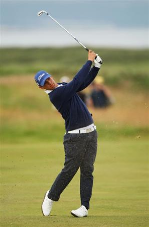 TURNBERRY, SCOTLAND - JULY 16:  Matteo Manassero (Amateur) of Italy hits an approach shot on the 2nd hole during round one of the 138th Open Championship on the Ailsa Course, Turnberry Golf Club on July 16, 2009 in Turnberry, Scotland.  (Photo by Andrew Redington/Getty Images)