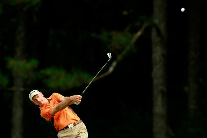 ATLANTA - SEPTEMBER 24:  Jim Furyk hits a shot on the 16th hole during the second round of THE TOUR Championship presented by Coca-Cola at East Lake Golf Club on September 24, 2010 in Atlanta, Georgia.  (Photo by Kevin C. Cox/Getty Images)