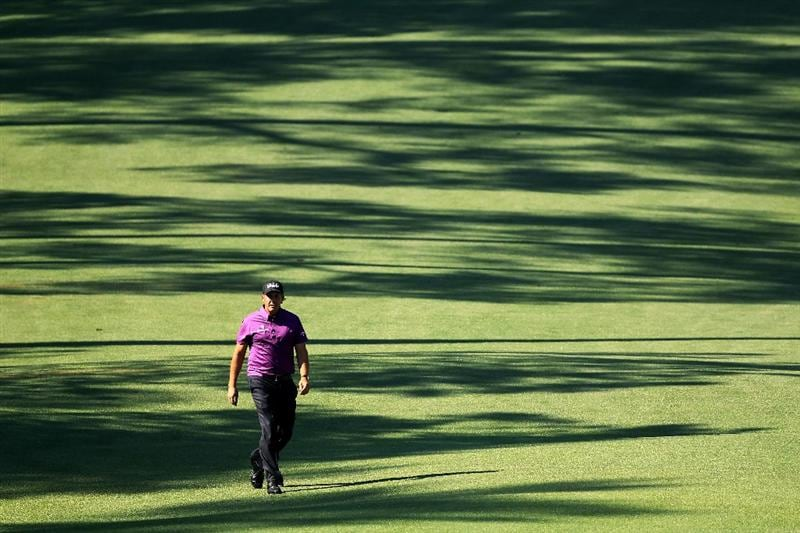 AUGUSTA, GA - APRIL 07:  Phil Mickelson walks along the fairway on the tenth hole during the first round of the 2011 Masters Tournament at Augusta National Golf Club on April 7, 2011 in Augusta, Georgia.  (Photo by David Cannon/Getty Images)