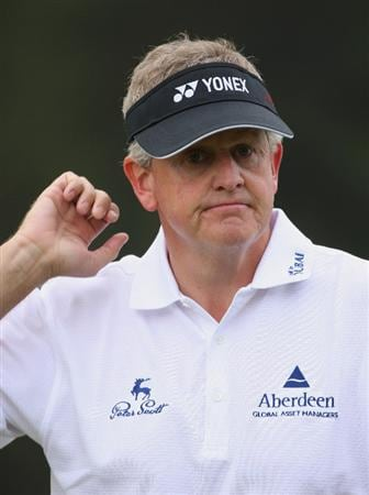HONG KONG, CHINA - NOVEMBER 22:  Colin Montgomerie of Scotland looks on during the third round of the UBS Hong Kong Open at the Hong Kong Golf Club on November 22, 2008 in Fanling, Hong Kong.  (Photo by Stuart Franklin/Getty Images)