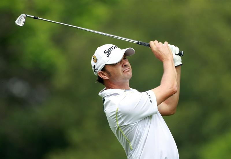 JOHANNESBURG, SOUTH AFRICA - JANUARY 20:  Andrew Marshall of England tees off on the fifth hole during the second round of The 2011 Open Championship, International Final Qualifying Africa at Royal Johannesburg & Kensington Golf Club on January 20, 2011 in Johannesburg, South Africa.  (Photo by Warren Little/Getty Images)